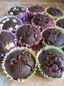 choc cake muffins