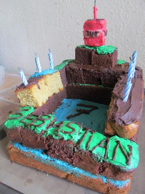 Minecraft Birthday Cake Farandole Of Cakes